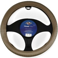 Husa auto pentru volan Carmax Premium, piele sintetica, D 37 - 43 cm, bej