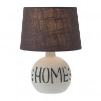 Veioza Home 01-1374, 1 x E14, maro + gri