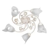 Plafoniera tip lustra Luminita VE1274-0, 5 x E14, bej / alba