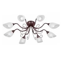 Plafoniera tip lustra Simona VE1472-7, 8 x E14, maro / alba
