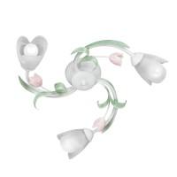 Plafoniera tip lustra Spring VE1541, 3 x E14, alba