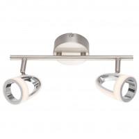 Plafoniera LED Rodrik 56006-2, 2 x 5W, nichel mat + alb satinat