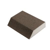 Burete abraziv pentru slefuire vopsea / lac / chit / lemn, Klingspor SK700A, 125 x 89 x 25 mm, granulatie 80