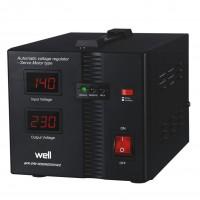 Stabilizator de tensiune cu servomotor Well Secure 1000VA / 600W