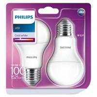 Bec LED Philips clasic A60M E27 12.5W 1521lm lumina neutra 4000 K - 2 buc
