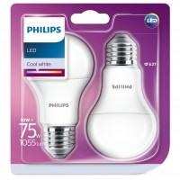 Bec LED Philips clasic A60M E27 10W 1055lm lumina neutra 4000 K - 2 buc