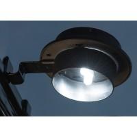 Aplica solara 3 LED-uri Hoff, 3lm, lumina rece - 10000 K, cu suport, neagra, IP44
