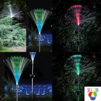 Lampa solara Hoff, fibra optica RGB, H 100 cm