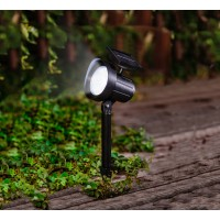 Proiector LED solar Hoff, 15 lumeni, H 31 cm