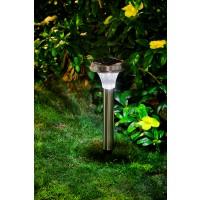 Stalp solar LED Hoff, cu senzor, inox, H 60 cm