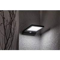 Aplica solara LED SMD Hoff, 300 lm, lumina rece - 10000 K, cu senzor de miscare, IP44