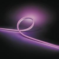 Banda LED RGB exterior Philips Hue, 19W, lumina calda / rece / multicolora, dimabila, IP67, 2 metri