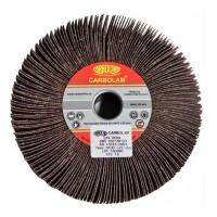 Disc lamelar, pentru slefuire lemn / metale / materiale constructii, cu tija, Carbochim, 150 x 30 x 20 mm, granulatie 80