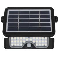 Proiector solar LED Hepol, 5W, 500lm, lumina rece, senzor de miscare, negru, IP65