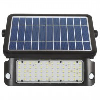 Proiector solar LED Hepol, 10W, 1080lm, lumina rece, senzor de miscare, negru, IP65