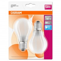 Bec LED filament Osram clasic A60 E27 7W 806lm lumina neutra 4000 K, mat - 2 buc