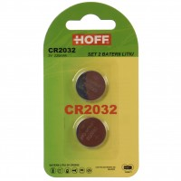 Baterie Hoff CR2032, 3V, litiu, 2 buc