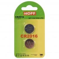 Baterie Hoff CR2016, 3V, litiu, 2 buc