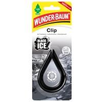 Odorizant auto, colier, Wunder - Baum,  Clip Black Ice, 19 x 7.5 x 1 cm