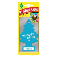 Odorizant auto, bradut, Wunder - Baum, Tropical, 19 x 7.5 x 0.5 cm