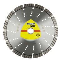 Disc diamantat, cu segmente, pentru debitare materiale de constructii, Klingspor DT 612 UT Supra, 125 x 22.23 x 2.4 mm