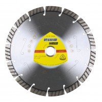 Disc diamantat, cu segmente, pentru debitare materiale de constructii, Klingspor DT 650 UD Supra, 230 x 22.23 x 2.6 mm