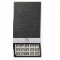 Aplica solara LED Hoff, 7.5W, lumina rece - 6000 K, cu senzor de miscare, IP44