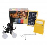 Sistem solar Hoff, 6V / 4.5Ah, 3W, 2 becuri LED x 1W, USB