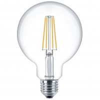 Bec LED filament Philips glob G93 E27 7W 806lm lumina calda 2700 K