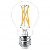 Bec LED filament Philips clasic A60 E27 7W 806lm lumina calda 2200-2700 K, dimabil