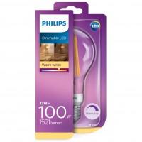 Bec LED filament Philips clasic A67 E27 12W 1521lm lumina calda 2700 K, dimabil