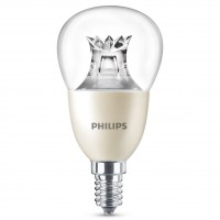 Bec LED Philips mini P50 E14 8W 806lm lumina calda 2200-2700 K, dimabil