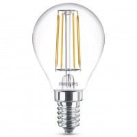 Bec LED filament Philips mini P45 E14 4.3W 470lm lumina calda 2700 K