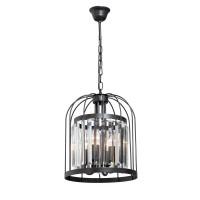 Lustra Cage VE5145-1/4, 4 x E14, neagra