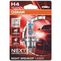 Bec auto Osram H4 Night Breaker Laser, P43T, 60/55 W, 12 V