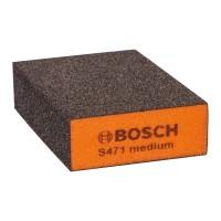 Burete abraziv, pentru slefuire vopsea / lemn / metale, Bosch 2608608225, 69 x 97 x 26 mm, granulatie medie