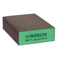 Burete abraziv, pentru slefuire vopsea / lemn / metale, Bosch 2608608228, 69 x 97 x 26 mm, granulatie superfina