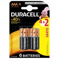 Baterie Duracell Basic, AAA, Alkaline, 4 + 2 buc