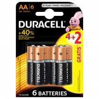 Baterie Duracell Basic, AA, Alkaline, 4 + 2 buc