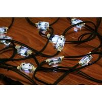 Instalatie Net 10 becuri cu LED-uri flash cu lumina rece, 5 m, interior / exterior