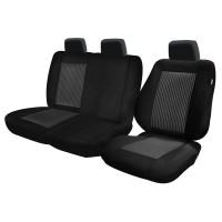 Huse auto pentru scaune, Cargo Lux, universale, negru, diverse modele, set 7 piese