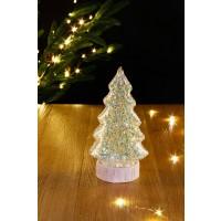 Decoratiune Glass brad 10 LED-uri cu lumina calda, Hoff, alimentare baterii, interior