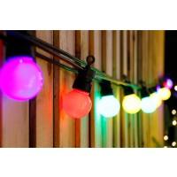 Instalatie Craciun, Hoff, 12 becuri multicolore cu LED, G45, 5.5 m, controler, interior / exterior