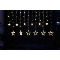 Instalatie Craciun, Hoff Icicle, 12 stele si 138 LED-uri cu lumina calda, 2.4 m, controler, interior / exterior