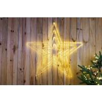 Decoratiune Craciun stea explosion 4 in 1, Hoff, 435 LED-uri cu lumina calda, interior / exterior