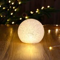 Decoratiune LED glob Eva, 8 cm, lumina calda, alimentare baterii