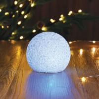 Decoratiune LED glob Eva, 12 cm, lumina RGB, alimentare baterii