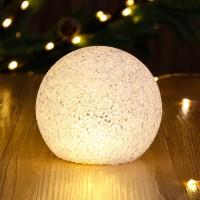 Decoratiune LED glob Eva, 15 cm, lumina calda, alimentare baterii