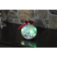 Decoratiune glob Hoff, 5 LED-uri multicolore, D 9 cm, interior, alimentare baterii