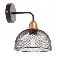 Aplica Tamis 01-1569, 1 x E27, negru mat + aur mat